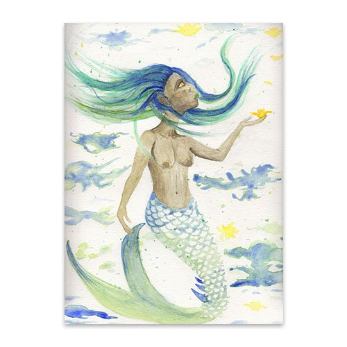 Featured---Mermaid-Catching-Daffodil---Watercolor