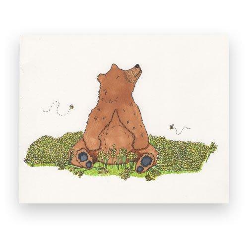 Marker Illustration of a Bear and Flowers Illustrators Newport News VA Design Portfolio