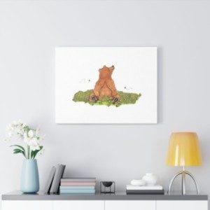 Baby Bear Wall Art Illustrative