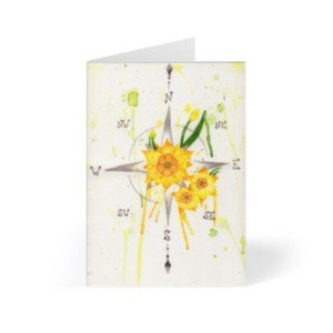 Compass Greeting Card Artist Designed Products Illustrative Artwork On Cards