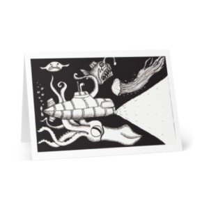 Underwater Creatures Greeting Card Artist Designed Products Illustrative Artwork On Cards